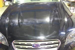 洗車キズ、塗装のくすみを解決!H17アウトバック 黒・車のコーティング>クリスタルポリマー♪