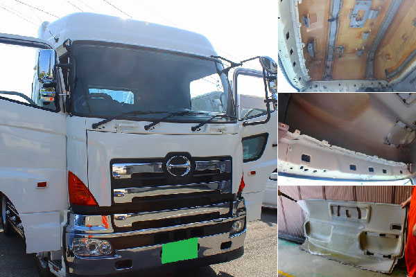 大型トラックやバスなどの特殊車両の車内清掃