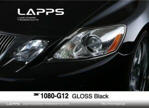 1080-G12 GLOSS Black グロスブラック カーラッピングフィルム
