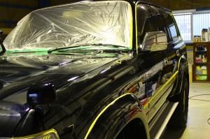 平成5年式 トヨタ ランクル80 ボディガラスコーティング ウルトラストロングコート(USC)