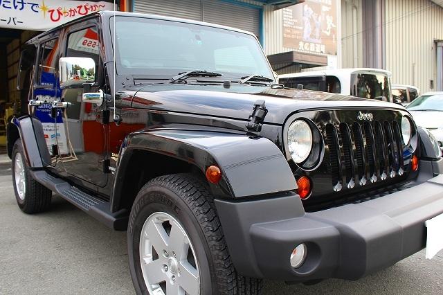 ウルトラストロングコート USC 施工例 Jeep ラングラー 黒 新車 画像7