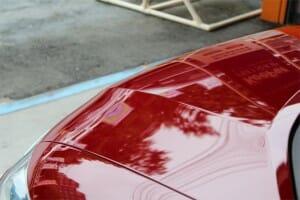 赤い塗装のくすみ 色あせ ボディガラスコーティング施工後