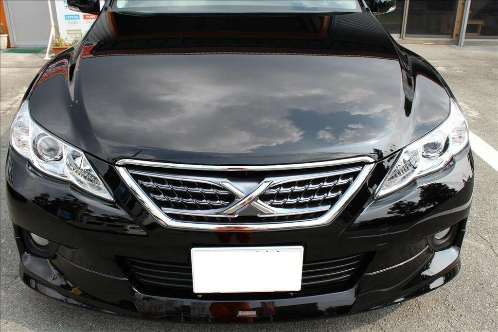 車のボディガラスコーティング H23年式 トヨタ マークX 黒