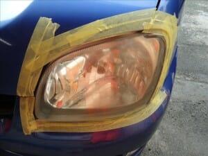 ヘッドライト黄ばみ 磨き施工前