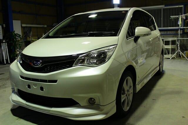 H22年式 スバル トレジア |車のコーティング施工事例