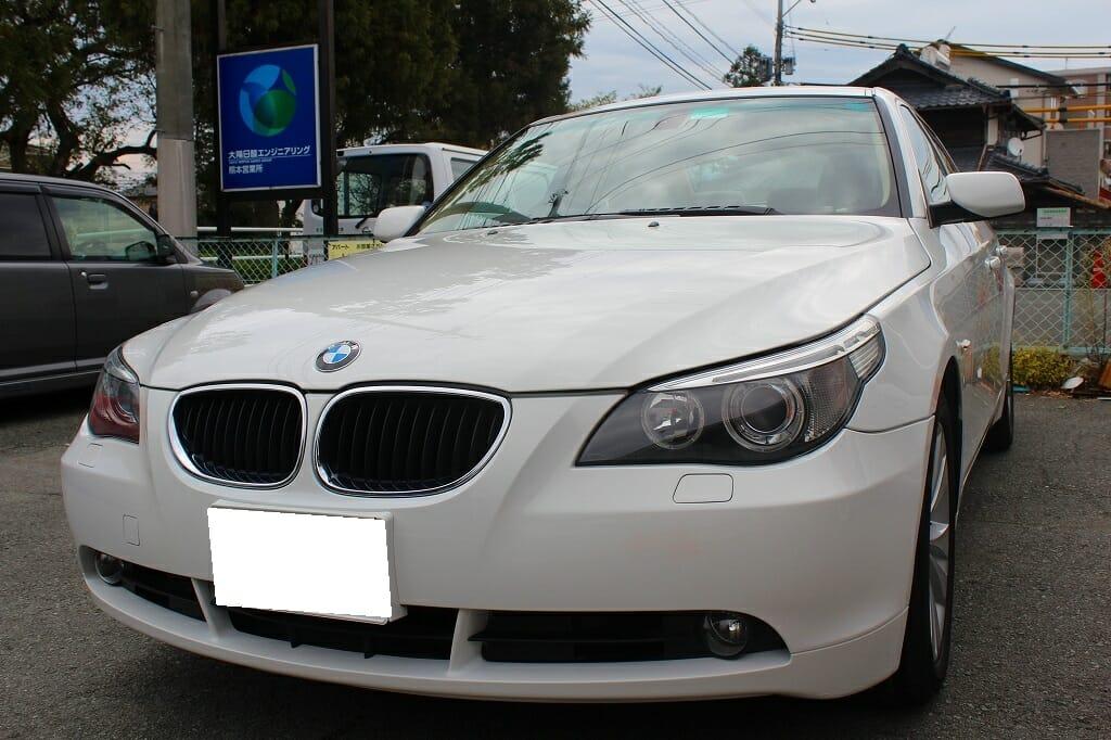 車の液体ガラスコーティング 施工例 平成17年式 BMW530i