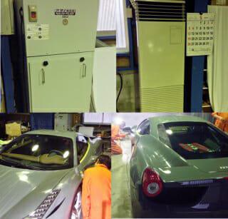 車磨き 作業風景