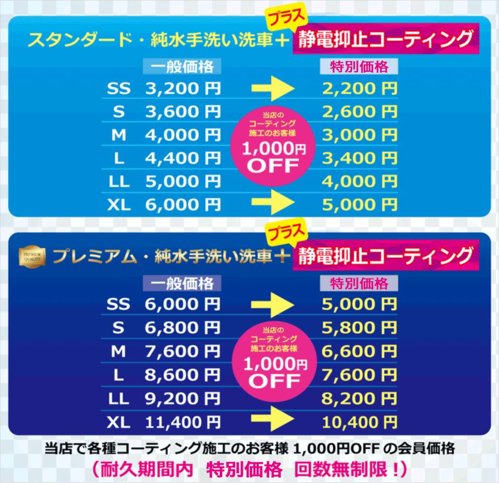 ツーウェイコート 価格表