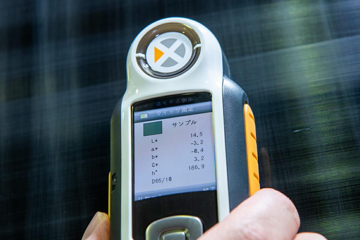 車のコーティング 艶を数値化 車磨き研磨を分光色差計(側色計)で判定評価