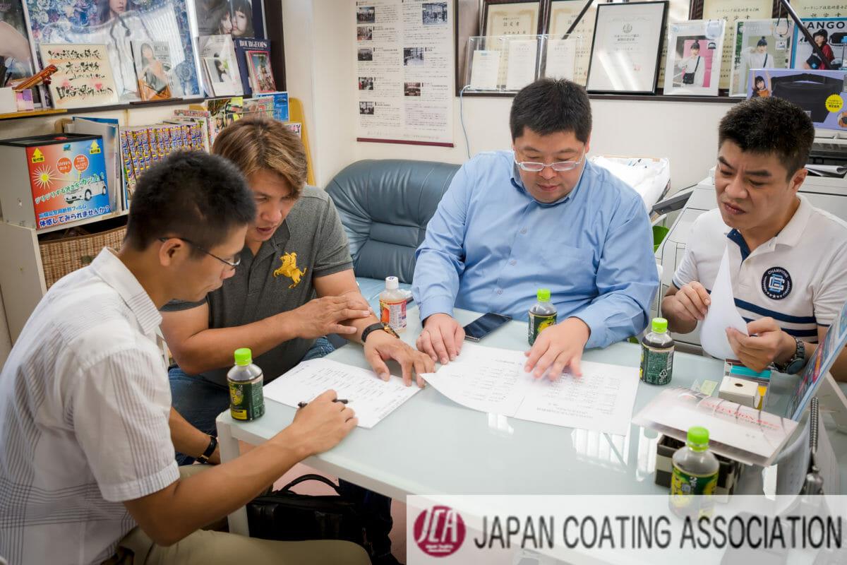 カーコーティング施工の基礎技術 車磨き研磨の評価判定 エコスタイル熊本から2名を審査員として招待頂きました。
