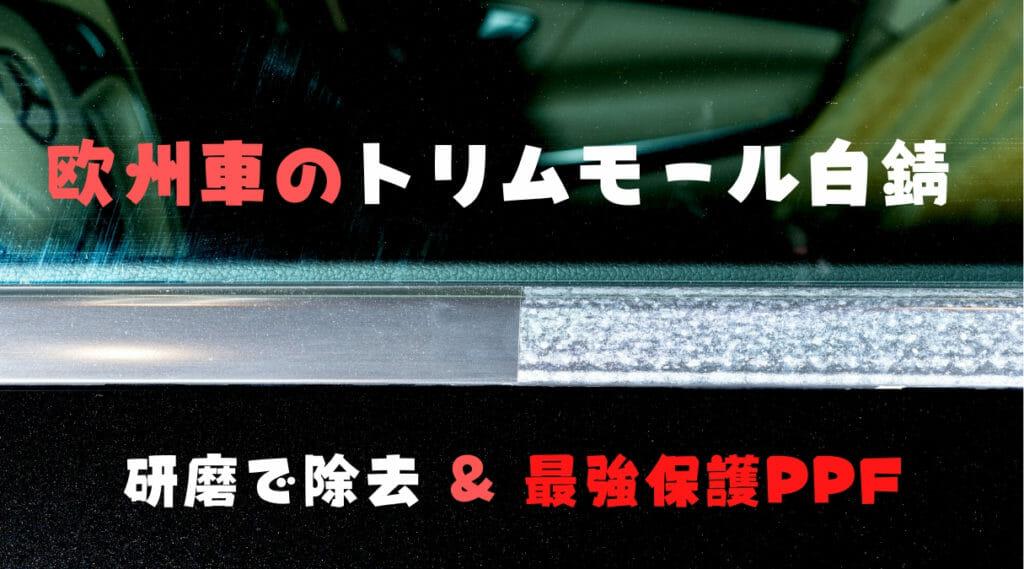 プロテクションフィルムでトリムモールを保護で白錆の再発防止